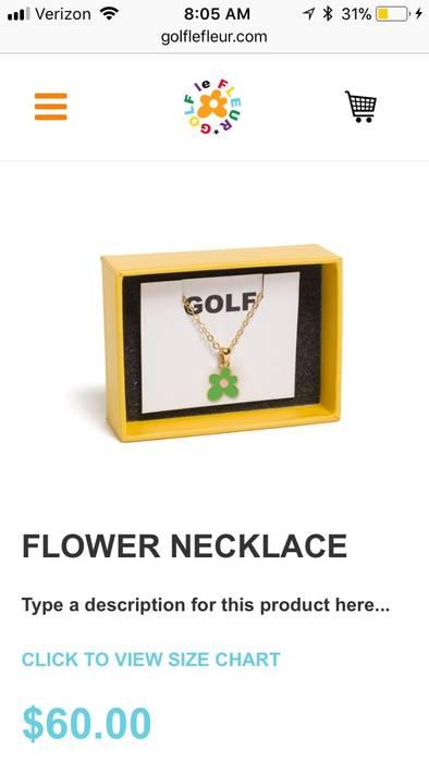 Golf Wang Golf Wang Golf Le Fleur Flower Necklace Sold Out Confirm