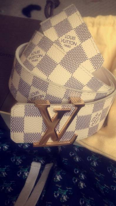 0a559bba056a6 Louis Vuitton Damier Azur Belt FINAL DROP Size 38 - Belts for Sale ...