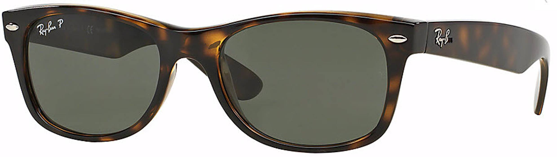 5d9ec3b6467 RayBan. Ray-Ban Polarized RB2132 New Wayfarer Sunglasses - Tortoise (52mm)