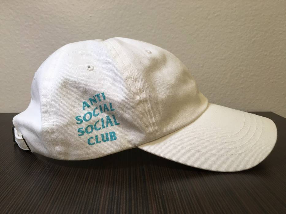 803c1d0e177 Antisocial Social Club Club Baseball Cap In White With Tiffany Blue ...