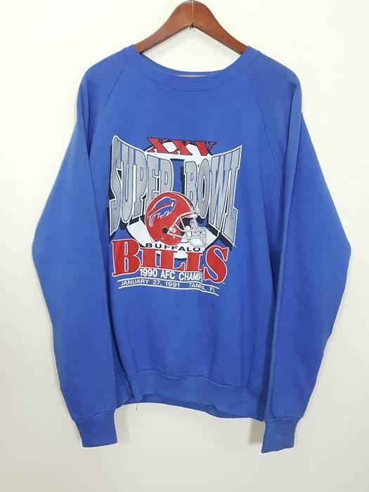 791984f66 Vintage MADE IN USA Buffalo Bills Super Bowl XXV 90 s AFC Champs Sweatshirt  Size US XL