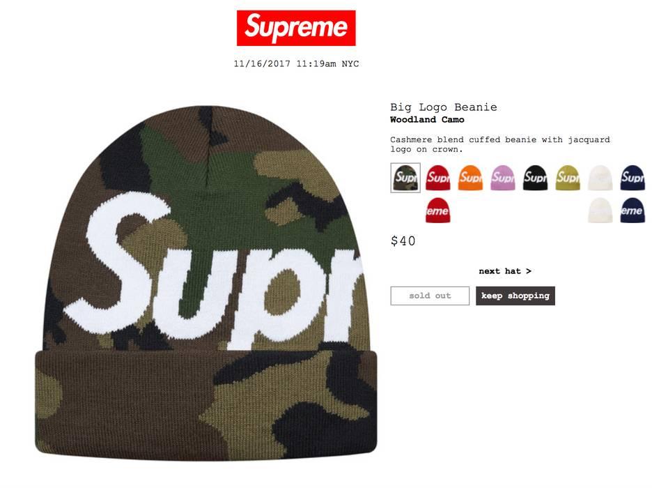 Supreme FW17 Supreme Big Logo Beanie Size one size - Hats for Sale ... 553a05b3c07
