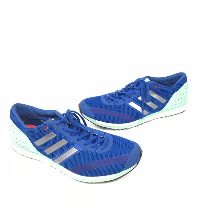 b0f22233889 Adidas Adidas Mens AdiZero Takumi Sen Running Training Shoes Blue Teal Sz  12 BB5674 Size US