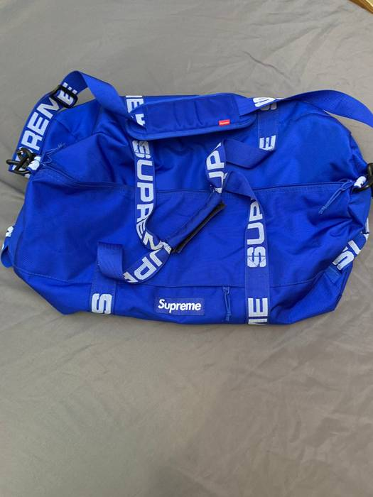 Supreme SS 18  Royal Blue Duffle Bag in Regular Size Size one size ... 81f724d1365fe
