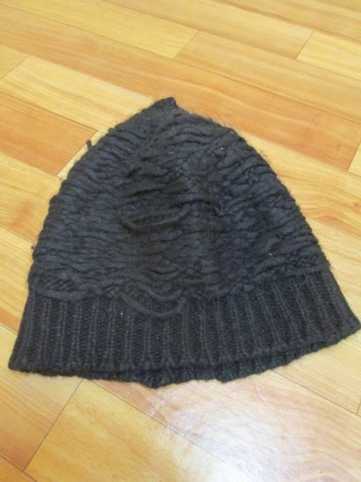 Isabel Benenato Black destroyed wool beanie. Unique fit like Julius or  Boris Bijapur Saberi beanie 5b0eade2a71e