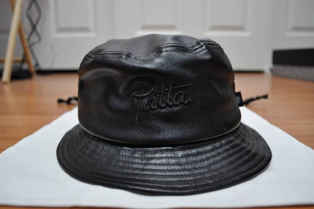 Stussy Leather Patta Bucket Hat Size one size - Hats for Sale - Grailed 1deb702063b