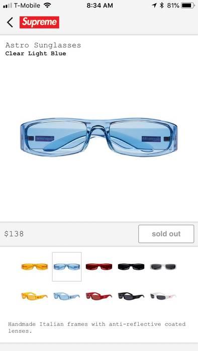 18ae139aa2d Supreme Supreme Astro Sunglasses Blue Size one size - Sunglasses for ...