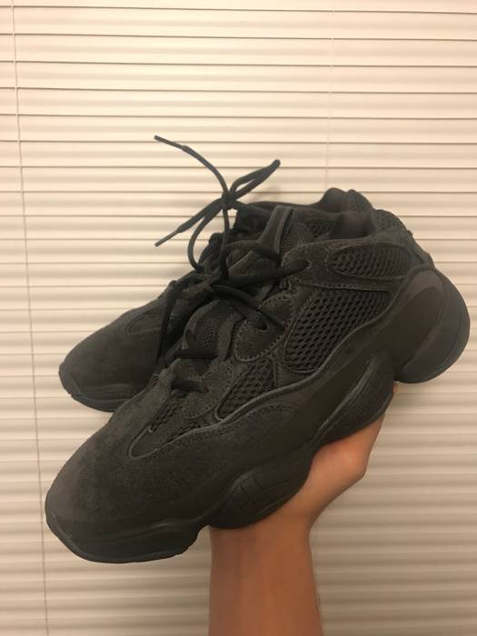 73a54fcbb62b8 Adidas Kanye West Adidas Yeezy 500 Boost Utility Black Size 8 - Low ...