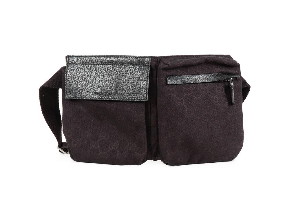 f903efb79c0 Gucci Gucci Black Canvas Fanny Pack Size one size - Miscellaneous ...