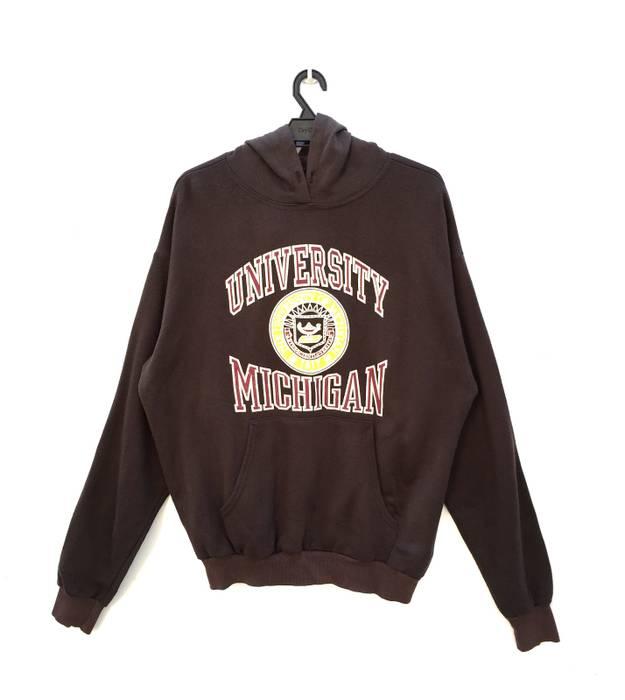 Vintage 80s 90s University Of Michigan Big Logo Sweatshirt Hoodie Size US 2e7a5e02a
