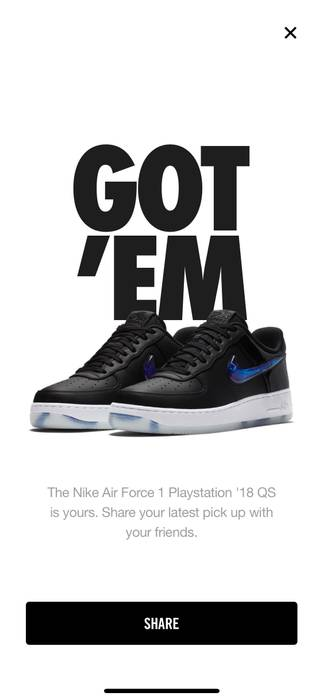 147c3ca1b95 Nike. 2018 Nike Air Force 1 Low QS PLAYSTATION E3 EXCLUSIVE Sz 9 ...