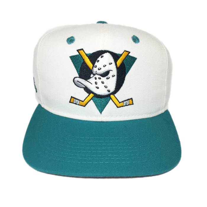 hot sale online bb4be f1802 ... spain the mighty ducks vintage anaheim mighty ducks snapback hat cap in  white and teal size ...