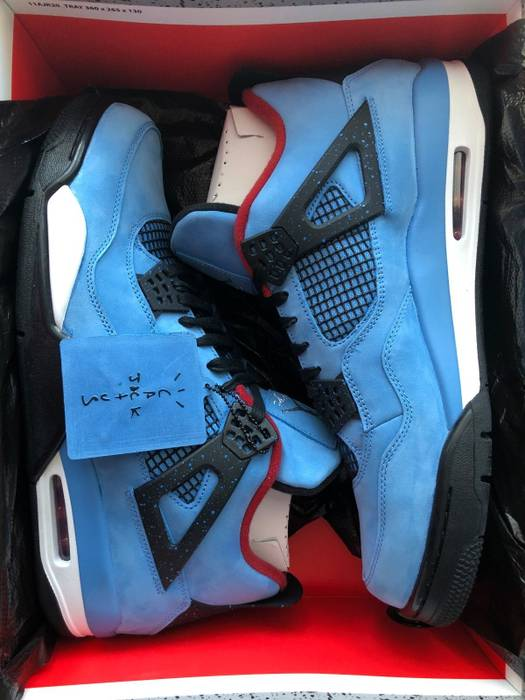 d746363d0a0b0f Nike Air Jordan Retro 4 Travis Scott Cactus Jack STYLE 308497-406 ...