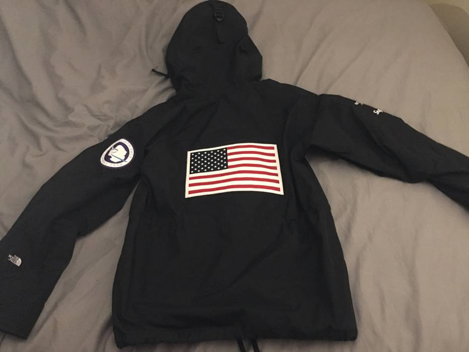 20e4a908d9c8 Supreme North Face Gortex American Flag Jacket S 17 Drop. Supreme The North  Face Usa Flag Logo Backpack ...