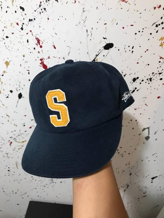Stussy Stussy Blue Double S Appliquéd Cotton Baseball Cap Size one ... 30b2d155f68