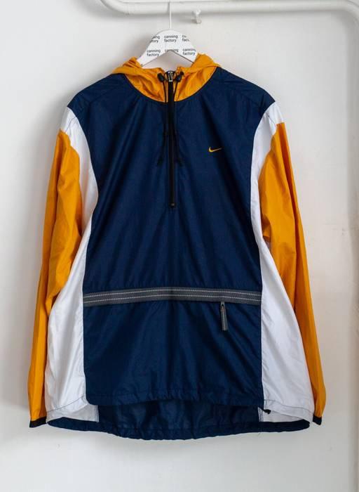 270a866953 Nike VINTAGE NIKE HALF ZIP ANORAK WINDBREAKER WITH HOOD Size US XL   EU 56