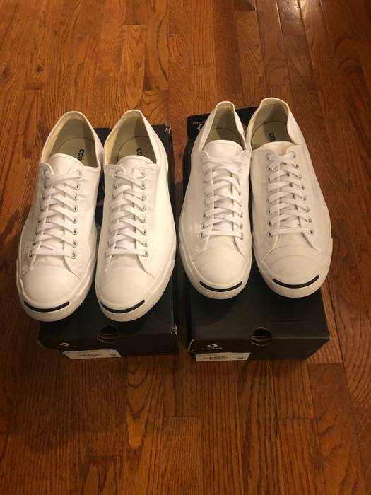 46ae7f6d3e7 Converse Two Pair Converse Jack Purcell CP White Canvas Size 14 Size ...
