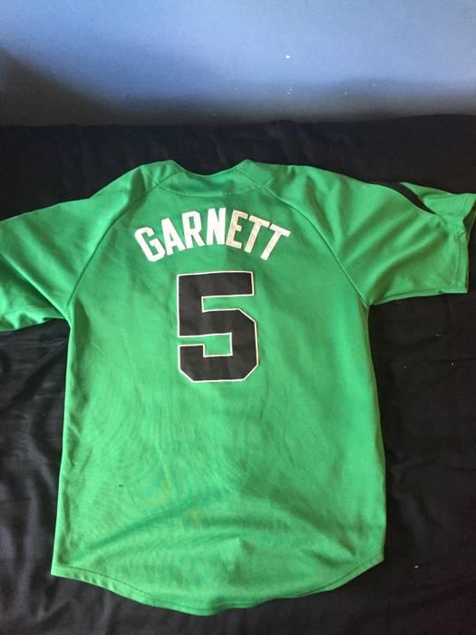 4d8c40b1a Majestic Kevin Garnett Celtics Baseball Jersey Size l - Short Sleeve ...