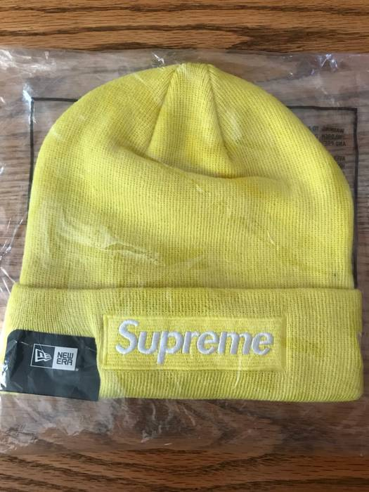 29f709c3b18f2 ... 50% off supreme 100 authentic supreme new era fw16 box logo beanie  yellow size one