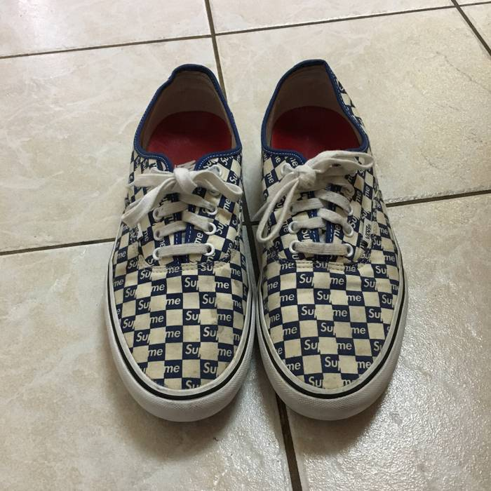 034c1072fe7daa Supreme Supreme vans Authentic Checkered Blue Size US 12   EU 45 - 1