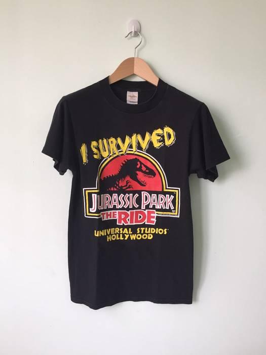 49b385c09bf Vintage Vintage 90 s Jurassic Park I Survived The Ride T Shirt Movie Promo  by Universal Studios