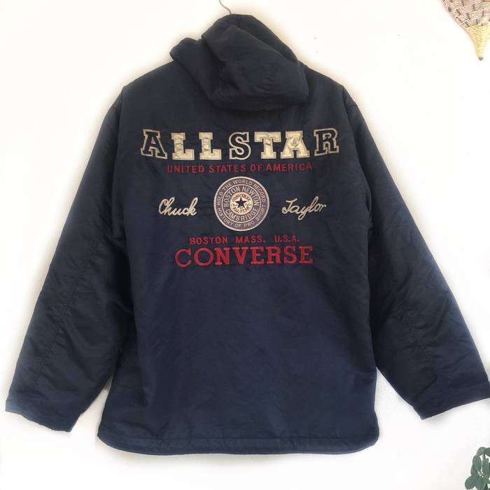 216cb3ed68c8f5 Converse Super Rare! Converse Jacket With Big Logo Chuck Taylor Size US L    EU