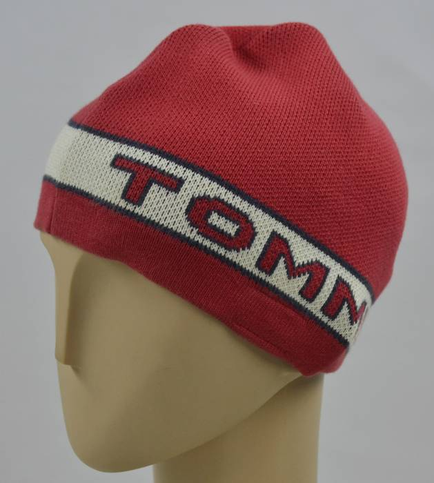 Tommy Hilfiger Tommy Hilfiger Skull Cap Red Signature Tommy Spellout Size  ONE SIZE ae26ec982da