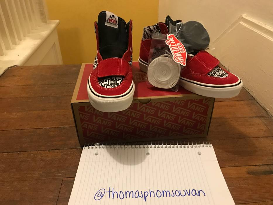643469a790 Vans Vans x FOG - Fear Of God Mountain Edition 35 DX Size 7 Red NEW ...