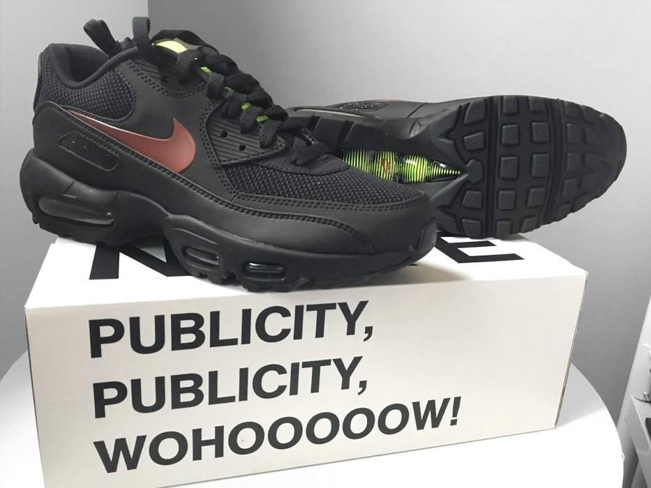 0414ec0099ed58 Nike Nike x Patta Air Max 90 95 (Black Mars Stone Black) Size 9 ...