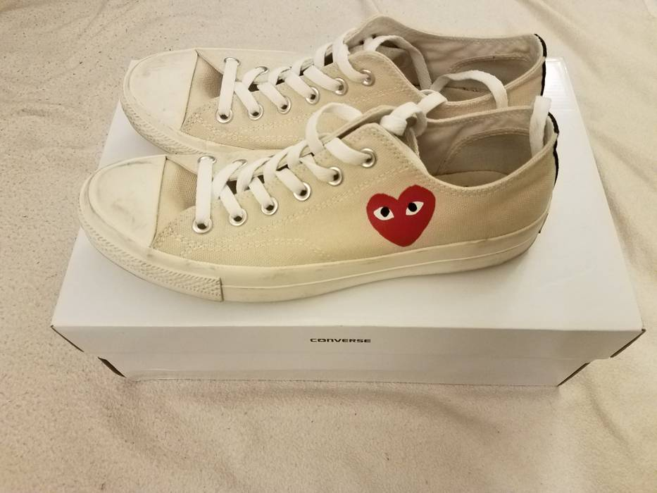 24c970286671 Comme Des Garcons Play CDG x Converse PLAY shoes Size 8 - Low-Top ...