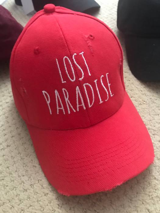 Custom Lost Paradise Red Trucker Hat Cap Size one size - Hats for ... aada930c5f4