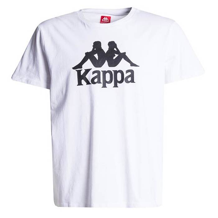 Kappa WHITE Kappa Logo T Shirt   Tee   T-Shirt   Shirt BLACK LOGO ... 6ba4ddb35