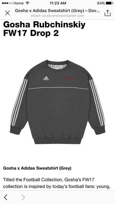 36a8a5e9482da3 Adidas Adidas X Gosha Rubchinskiy Crewneck Sweatshirt Grey And White Not  Bape Supreme Raf Simons Rick