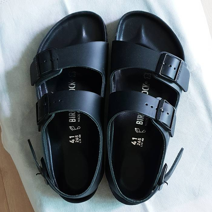 4afb6b5db83 Birkenstock MILANO EXQUISITE BLACK LEATHER Size 8 - Sandals for Sale ...