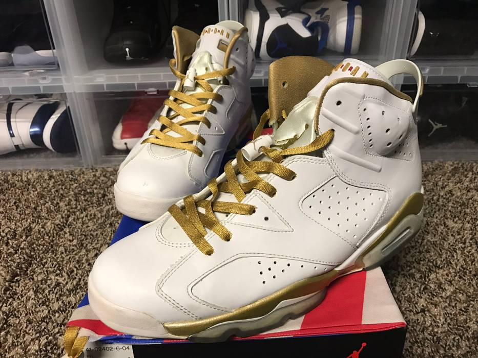 sports shoes 1ca31 2fd92 Jordan Brand Air Jordan 6 Retro Golden Moments Pack 6 7 Used Size 11  Replacement