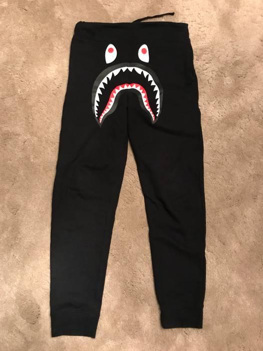 Bape Bape Shark Face Joggers Black Size 32 - Sweatpants   Joggers ... 5f22bdd91