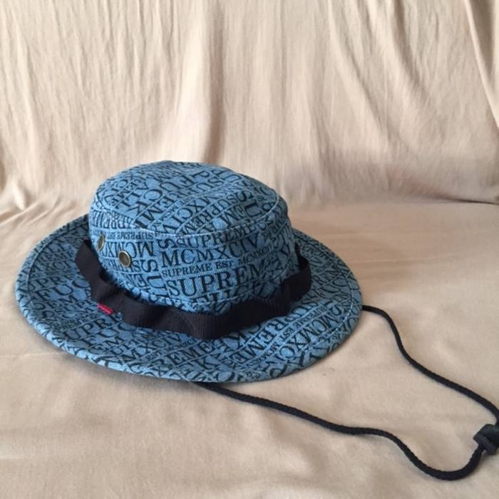 4155f36ce32 Supreme Fuck Em All Denim Boonie Hat Size one size - Hats for Sale ...