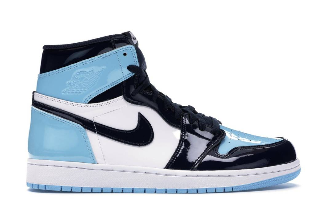 Nike Jordan 1 Retro High UNC Patent Womens OBSIDIAN BLUE CHILL-WHITE Size  US 6.5 4554927c8c