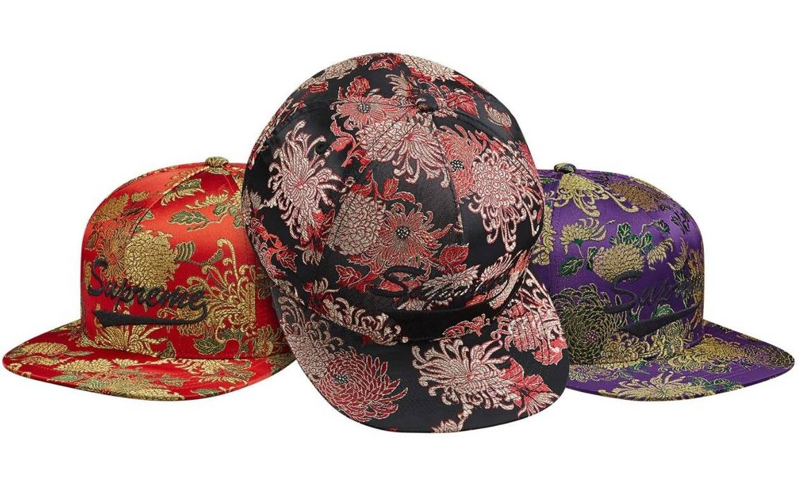 Supreme Supreme Eastern Floral 5-Panel Snapback Hat Black Size one ... d5fea6fa4b1
