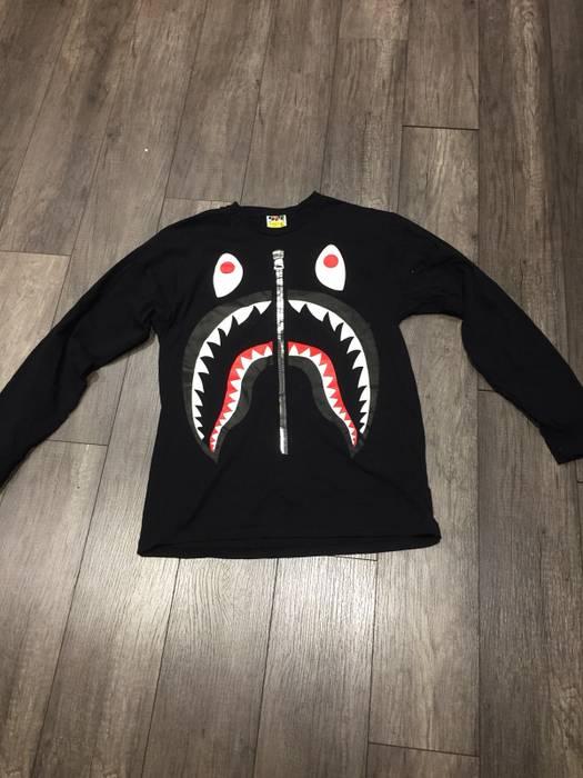 689615f65 Bape Long Sleeve Big Shark Tee Size xl - Long Sleeve T-Shirts for ...