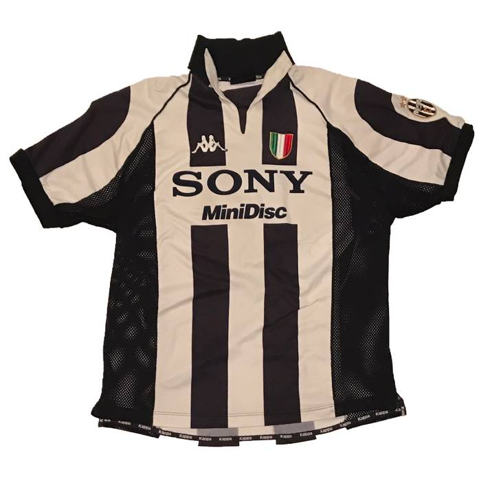 Kappa Vintage Kappa Sony MiniDisc Juventus Soccer Jersey Size l ... f46c27218