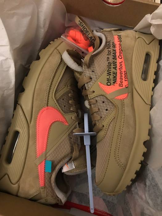 Nike Air Max 90 Desert Ore Beige Size 8 Low Top Sneakers For Sale