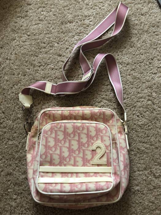 "Dior RARE ""Dior"" Monogram Pink Crossbody Cargo Shoulder Bag Size ONE SIZE b0cbeaddc82a9"