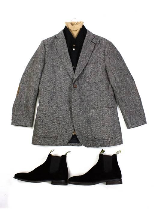 Scotch Soda 2 Layers Tweed Blazer Sport Coat W Leather Elbow