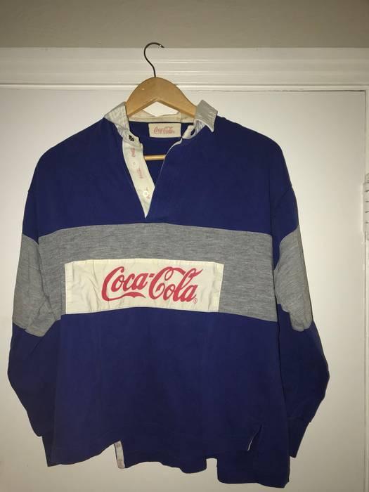 11946e28c45 Coca Cola 80 s Coke Long Sleeve Polo Size m - Long Sleeve T-Shirts ...
