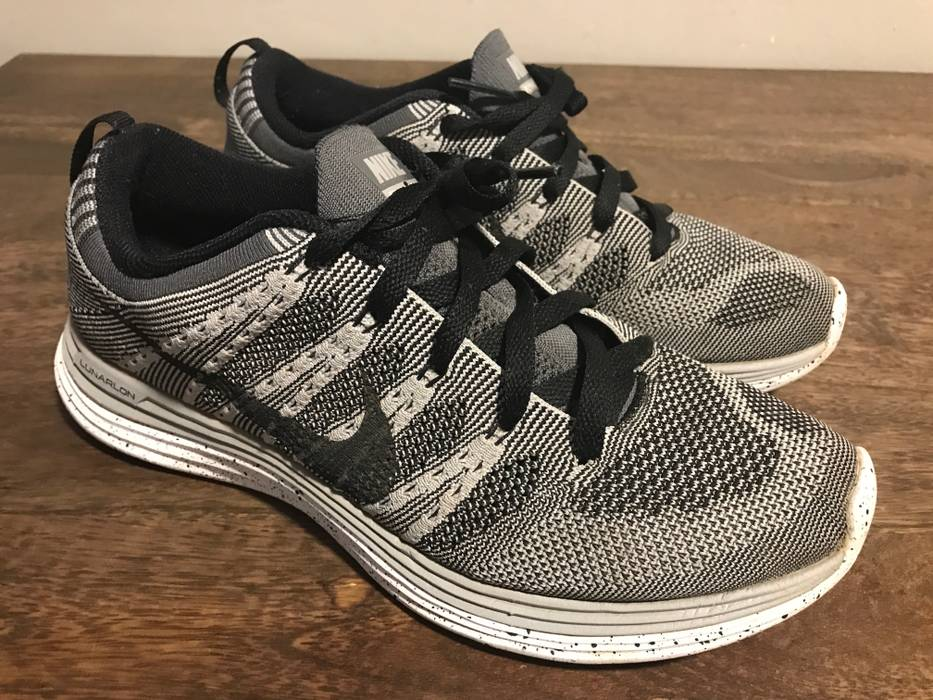 official photos 067d5 fc3fe ... Nike Flyknit Lunar 1 Wolf Grey Size US 9.5 EU ...