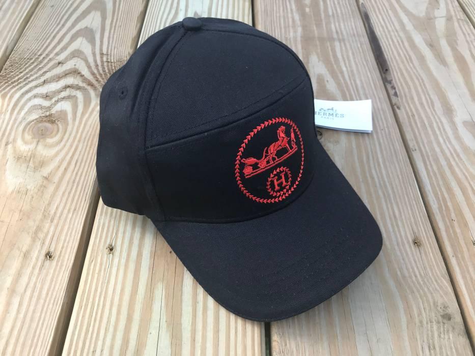 Hermes Hermes Paris Hat Men s Black Cap Hat Baseball Cap Hermes Paris Size  ONE SIZE 2eedfff3a87
