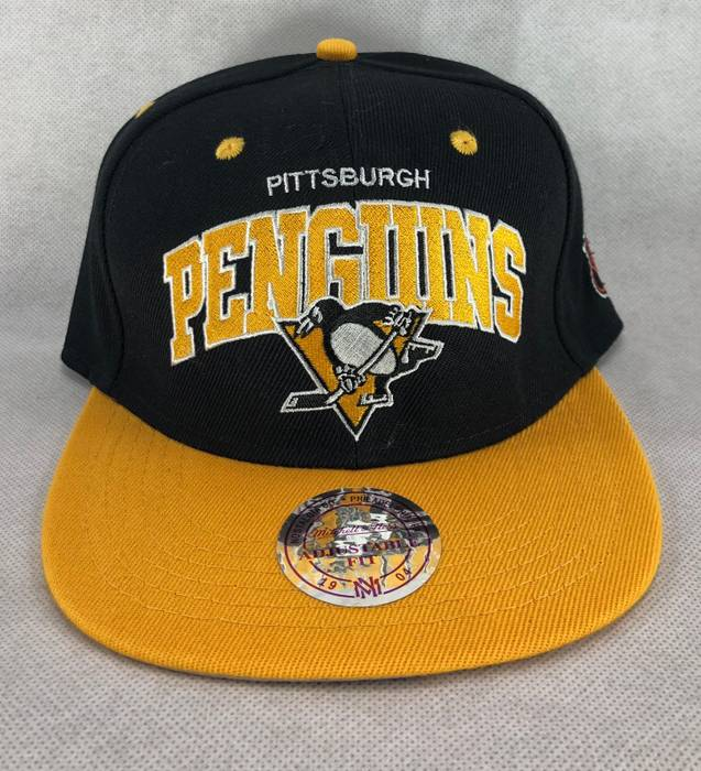 Mitchell   Ness. Pittsburgh Penguins NHL Mitchell   Ness Snapback Hat Cap  ... 1d9dccb69867