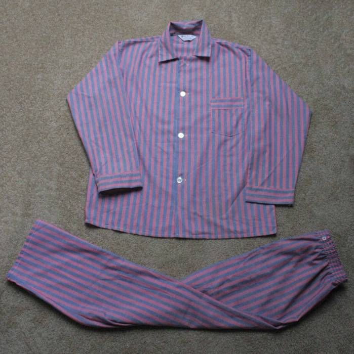 Vintage 1960 s Striped Pajama Set Size m - Short Sleeve T-Shirts for ... d0aa97663