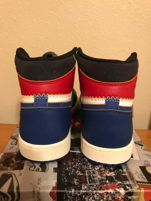 515b4e332bd Jordan Brand Jordan 1 Retro High Union Los Angeles Blue Toe Size US 10   EU